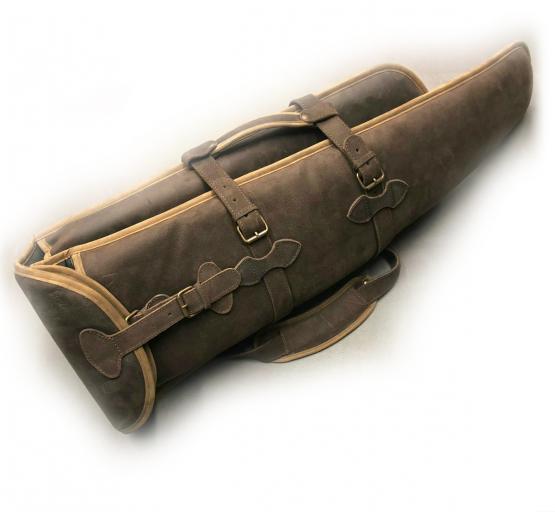Nobil Hunting Flintenfutteral in braun aus Leder 120cm