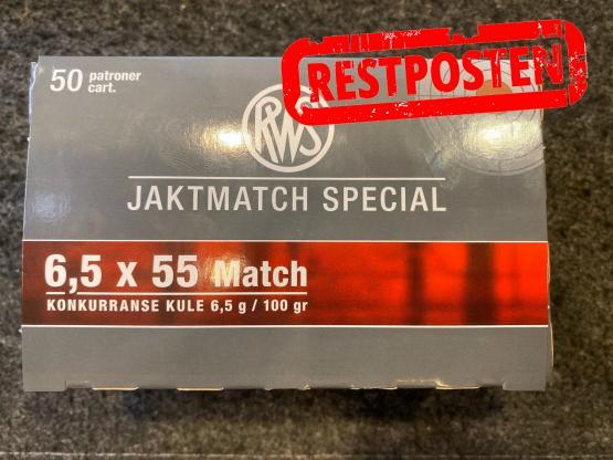 RWS 6,5x55 Match Konkurranse Kule 6,5g 100grs