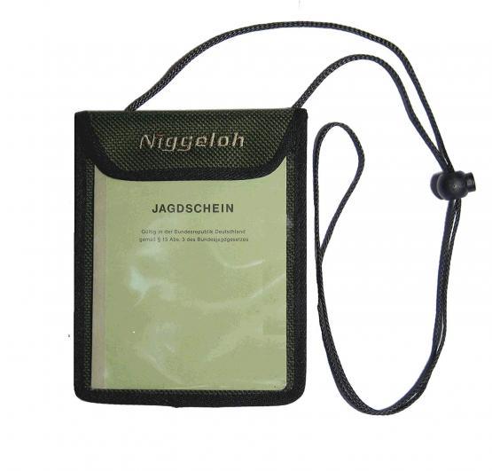 Niggeloh Jagdscheintasche grün, klarsicht