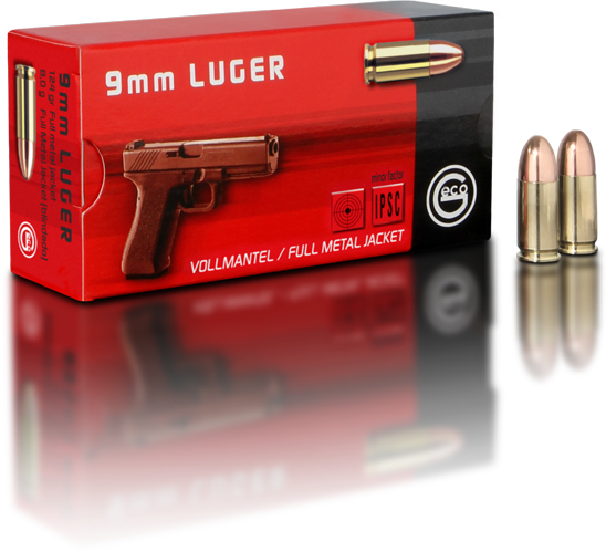 220€ für 1000 Schuss! Geco 9mm Luger FMJ 124grs