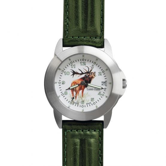 Greiner Uhr Lumi-Time 2229-T Hirsch