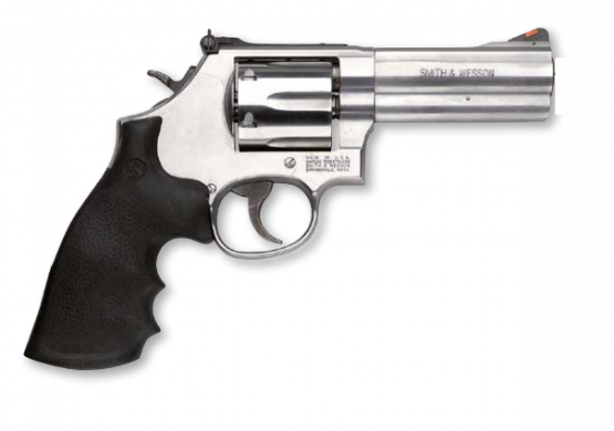 "Smith & Wesson Mod. 686, 6"", Balkenkorn .357Mag. stainless Revolver"