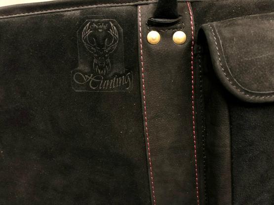 Nobil Hunting Futteral in schwarz aus Leder 130cm