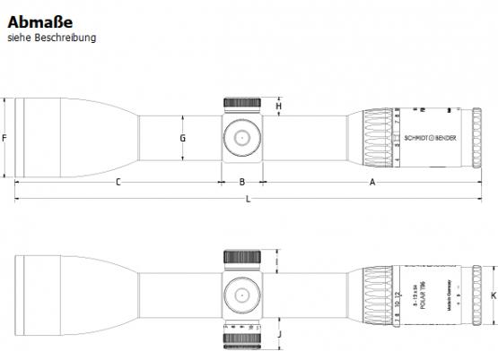 Schmidt & Bender 3-12x54 Polar T96 Absehen D4, 2 Bildebene