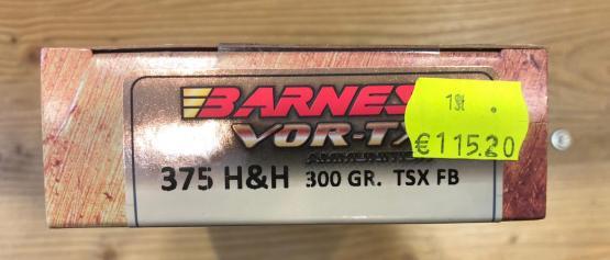 Barnes VOR-TX 375 H&H 300gr. TSX FB Safari