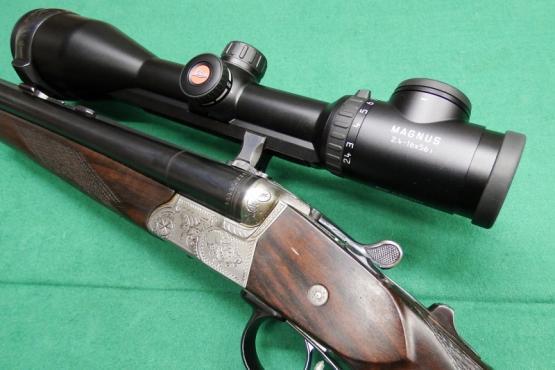 Krieghoff Trumpf Drilling 12/70 7x65R mit Leica Magnus 2,4-16x56i
